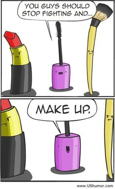 Stop fighting and makeUP! #Funny #Makeup #MakeupFunny