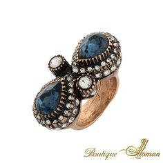 #silver Drop Swarovski Ring  #jewelry #ottoman