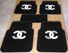 Buy Wholesale Gorgeous Chanel Genenal Automotive Carpet Car Floor Mats Rubber Sets - Black White from Chinese Wholesaler Bling Car Accessories, Car Interior Accessories, Car Accessories For Girls, Automotive Carpet, Leather Car Seat Covers, Car Gauges, Car Steering Wheel Cover, Girly Car, Jeep Cars