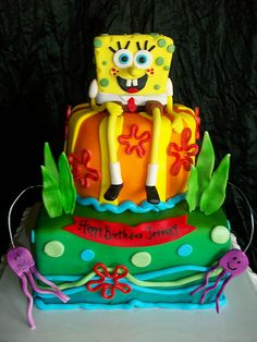spongebob birthday cake photo
