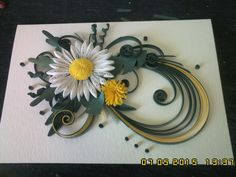 Quilling daisy