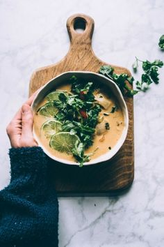 Thai Coconut Cauliflower Soup Vegan Paleo Whole - Thai Coconut Milk Cauliflower Soup Recipe This Vegan Paleo Whole Compliant Soup Is A Quick Way To Have A Vibrant Flavourful Dinner Coconut Milk Cauliflower Lemongrass Fresh Ginger And Cilant Vegetarian Soup, Vegan Soups, Vegetarian Recipes, Paleo Vegan, Thai Vegan, Paleo Soup, Paleo Diet, Whole30 Soup Recipes, Healthy Soup Recipes