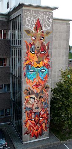 30 Modern Street Art & Graffiti Pieces | From up North #art #streetart