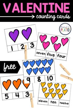 A fun math game for early learners with a Valentine's Day theme? Yes, please! Our Valentine counting cards are a great way to get young learners practicing counting while using and building their fine motor skills! Perfect for your Pre-K or Kindergarten students!