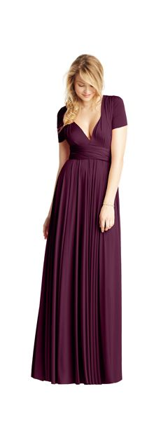 Aubergine purple twobirds bridesmaid multiway, convertible bridesmaids dresses