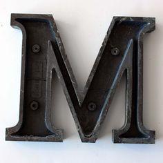 Vintage letter M