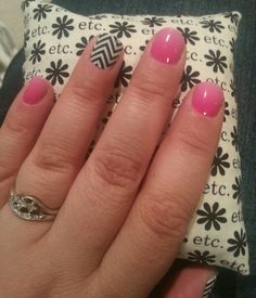 Loving my jamberry!  Kiss me ombre with black and white chevron accent.