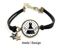 Bracelet * Little Black Dress* - *Ma petite robe noire * chic bijou noir blanc cabochon pois Bracelets, Men, Jewelry, Dresses, Design, Fashion, Classy Black Dress, Black Jewelry, White People