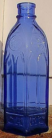 Carter Ink Bottle, (cathedral style), C. 1880s-1890s
