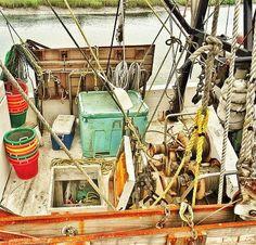 Title:  Shrimp Boat Paraphernalia    Artist:  Patricia Greer   Medium:  Photograph - Photographs