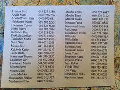 Anni laitto puhelinnumerot järjestykseen