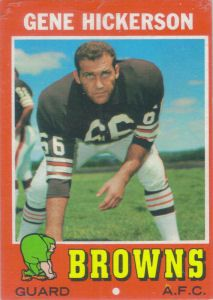 #4 Gene Hickerson 1971 Topps #36 football card