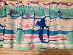 Disney Little Mermaid Window Valance  Custom by CheriesSewCrafty, $16.99
