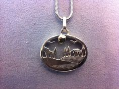 Tuscan landscapes in miniature hand-crafted in silver and gold € 170