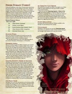 Dungeons And Dragons Races, Dungeons And Dragons Classes, Dungeons And Dragons Characters, Dungeons And Dragons Homebrew, Dnd Characters, Cleric Domains, Dnd Cleric, Dnd Monsters, Scary Monsters
