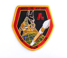 What is Anubis doing on a NRO mission patch?