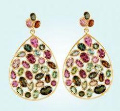 Jali Earrings in Tourmeline