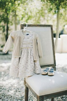 the sweetest flower girl outfit - perfect combo for a colder winter wedding weather