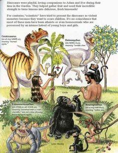 """Coco LaMartre sur Twitter : """"@athegriste Formidable, ils ont même réussi à convertir les Tyrex au végétarisme... Go vegan Adam & Eve !!!"""""""