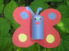 Papillon en rouleau de papier toilette