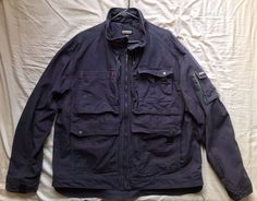 Men's Blaklader Workwear Brawny canvas navy blue solid field jacket size 3XL