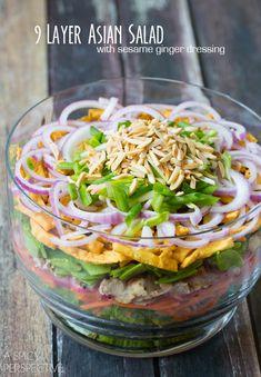 9 Layer Asian Salad