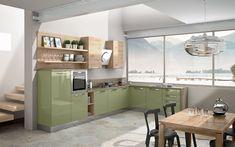 Cucina angolare moderna - Composizione 0464