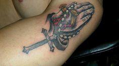 Praying Hands Tattoo by Duke Heavy Hand Tattoo