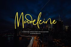 Meet Madeleine Modern Signature Font! This is a modern typeface from Lostvoltype. It comes with ligatures, and alternate characters. You can use this font for any your next project. Let's download and add to your fonts collection right now! It's totally FREE!