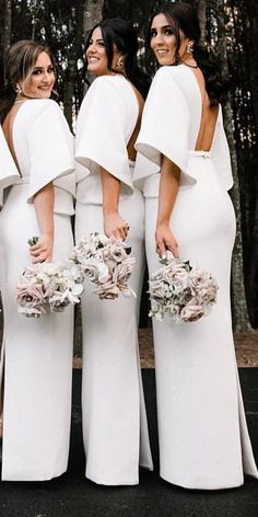 Modern Bridesmaid Dresses, Bridesmaid Dresses With Sleeves, Half Sleeve Dresses, Half Sleeves, Bridesmaids, Half Sleeve Wedding Dress, Sequin Bridesmaid, Prom Dresses, Bridal Dresses