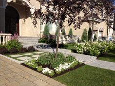 An elegant entrance to a magnificent driveway in Pavers and Natural stone. Natural Stones, Terrace, Entrance, Outdoor Living, Sidewalk, Horses, Elegant, Pools, Nature