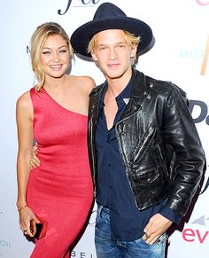 Gigi Hadid and Cody Simpson arrive at The Daily Front Row's 1st Annual Fashion Los Angeles Awards on Jan. 22