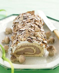 Chocolate and Nut Yule Log Recipe