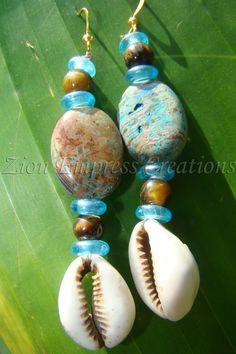 Crochet Earrings with Cowry shells - Google Search