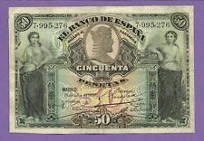 [AN] Spain 50 Pesetas 1907 P63 VF