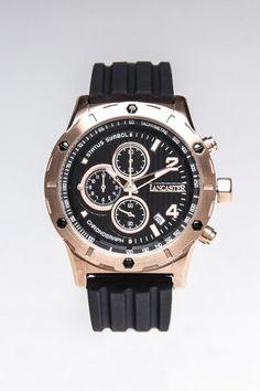 Lancaster Status Symbol Rose Gold Plated Oversized Watch.