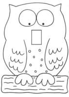 image regarding Printable Light Switch Cover Template titled 67 Perfect Owl Bible Lesson Concept shots within just 2014 Crafts for