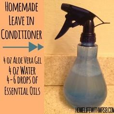 "tons of awesome natural uses for aloe vera, plus a leave-in conditoner recipe with essential oils.   from ""Home Life with Mrs. B"""