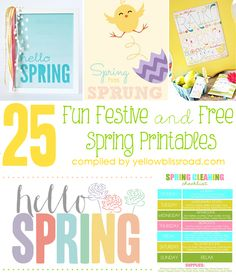 25 Fun Festive and Free Spring Printables