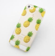 """Clear Plastic Case Cover for iPhone 6Plus (5.5"""""""") Pineapple Overload summer psych fruit love hipster"""