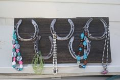 Barnwood Jewelry hanger by 2cowgirls on Etsy, $30.00