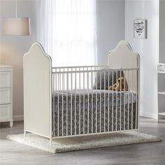 Little Seeds Piper Upholstered Metal Crib Iron Furniture, Kids Furniture, Upholstered Crib, Cream Bedding, Modern Crib, Convertible Crib, Crib Mattress, Baby Cribs, Toddler Bed