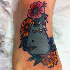 pusheen tattoo! Totally getting unicorn pusheen but this fancy pusheen is pretty rad!