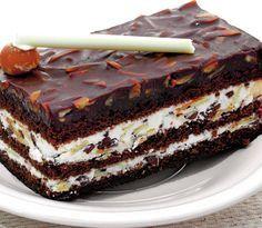 Un desert perfect pentru o seară de duminică. Şi aşa, de când n-ai mai făcut delicioasa negresă cu cremă? TIMPI DE PREPARARE Timp de preparare: 60 min Timp de gatire: 25 min Gata in: 1 ore, 25 min INGREDIENTE – 400 g ciocolată menaj Pentru glazură – 150 g fulgi de migdale – 2 pliculete … No Cook Desserts, Just Desserts, Delicious Desserts, Yummy Food, Romanian Desserts, Romanian Food, Gourmet Cakes, Food Cakes, Cake Recipes