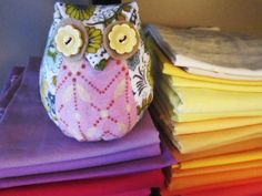 Scrappy flannel owl.
