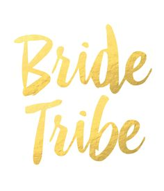 METALLIC GOLD bride tribe tattoos for you and your tribe!