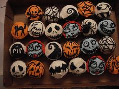 jack skellington cupcakes - Google Search