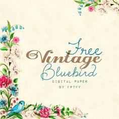 http://www.freeprettythingsforyou.com/2013/07/free-vintage-bluebird-digital-paper/