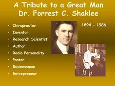 I had the honor to shake hands with Dr. Forrest Shaklee  http://wrp.myshaklee.com