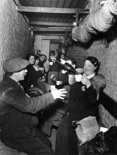 Sheltering Underground During the Blitz Islington London Photographic Print